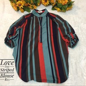 Love Tree Stripped Blouse